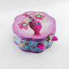 lover pairs design flower shape candy tin box with hinged lid