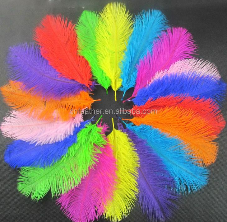 Decorativa Blanqueada de Carnaval de Plumas de Avestruz al por mayor de Adornos para el Pelo