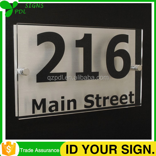 Best Quality High Custom Door Sign Plate Office Sign Aluminum Sign