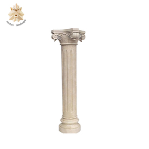 hand carved garden natural roman stone column/stone pillar NTMF-C062S