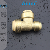 Factory Customized cUPC NSF approved Lead Free Brass Push Fit Reducer Tee