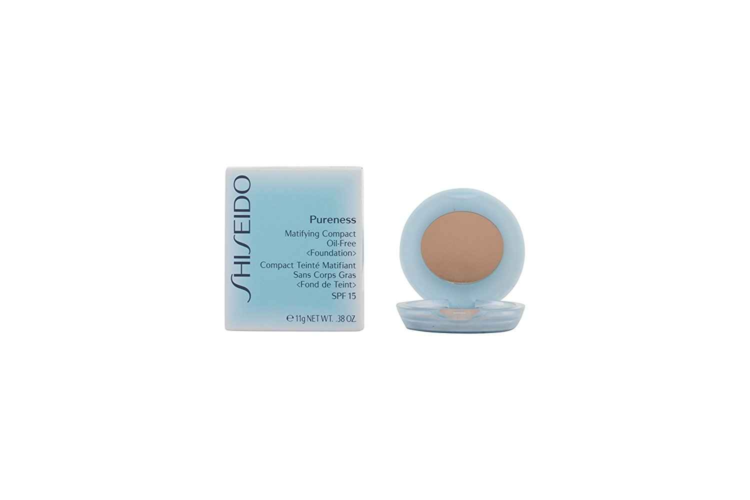 Shiseido - Pureness Matifying Compact Oil Free Foundation Spf15 (case + Refill) - # 30 Natural Ivory - 11g/0.38oz