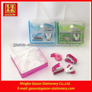 mini stationery set /stapler/tape dispenser/scissor