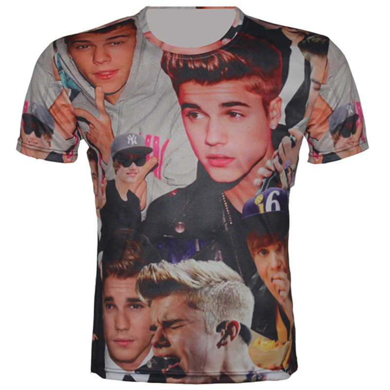 c0ee0e8f06d4 Buy Size XS-6XL 2015 Summer New Harajuku Style Men 3D T-Shirt Justin Bieber  Print Funny Shirt Casual Tops Brand Camisetas T Shirt in Cheap Price on ...