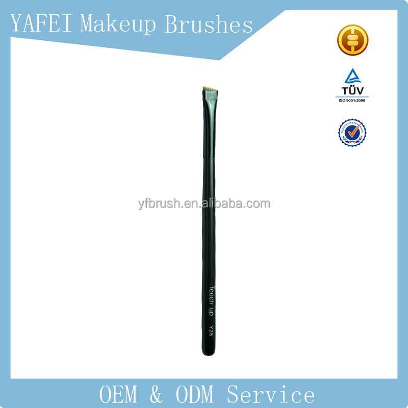 Y28# Yafei natural hair brush flat Kabuki Brush customized brands eyebrow brush