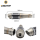ZSDTRP Universal Motorcycle Modified Titanium Exhaust Muffler pipe Fit for most motorcycle ATV Nice Sound with Akrapovic sticker