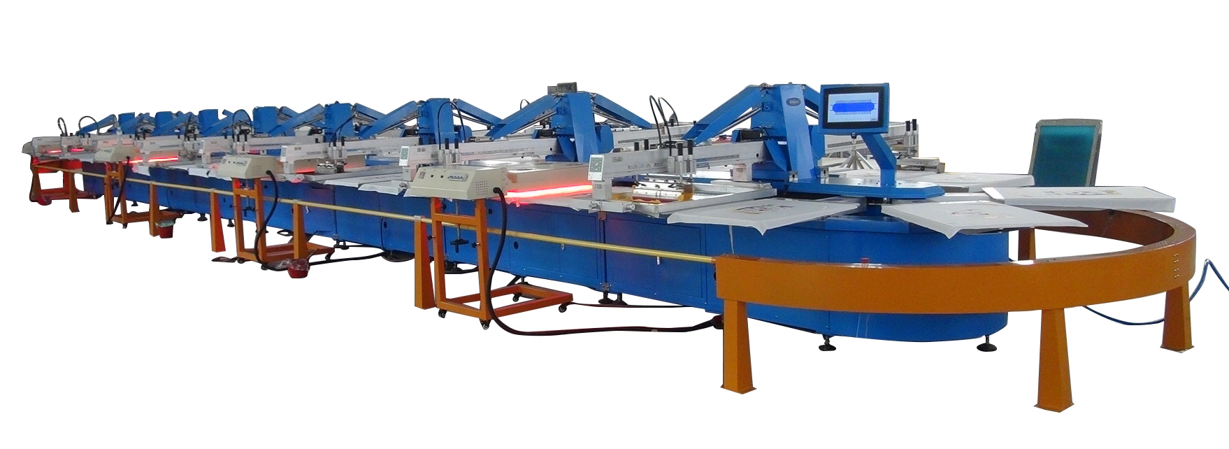 Big Production Ability 8 ColorsFilter Automatic Carousel Screen Printing Machine