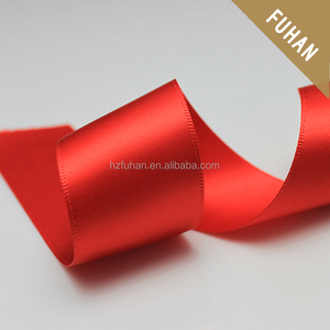 Hot Product Pure Red Color Polyester Gift Polyester Ribbon