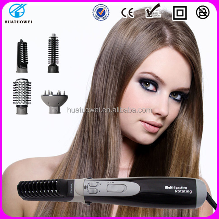 Professional hair dryer 4 in 1 multi function rotating brush electric hair brush styler