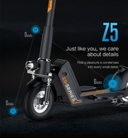 Foldable smart 2 wheel electric scooter with USB China Manfacture