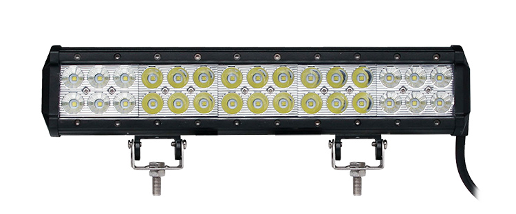 Quality 2 rows 14.6inch 90w led light bar for mining truck with mixed beam combo flood spot