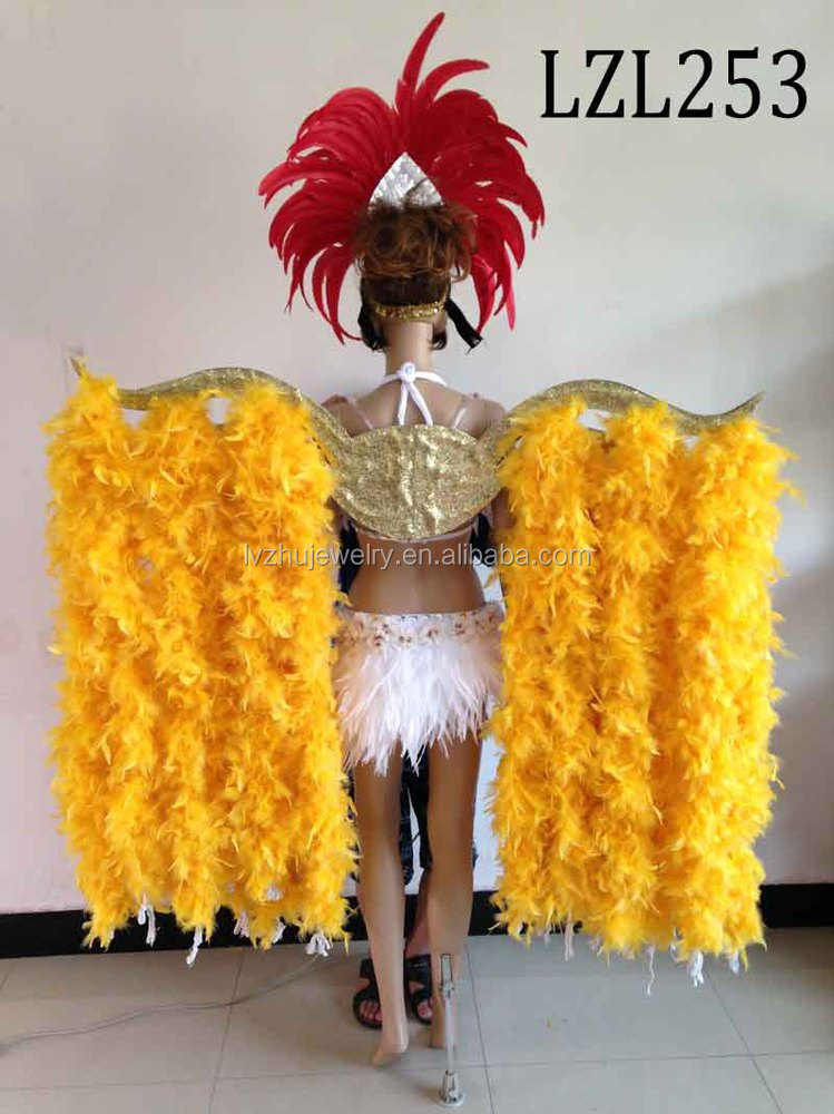 Showgirl/Dance Burlesque Feather samba costume LZL253