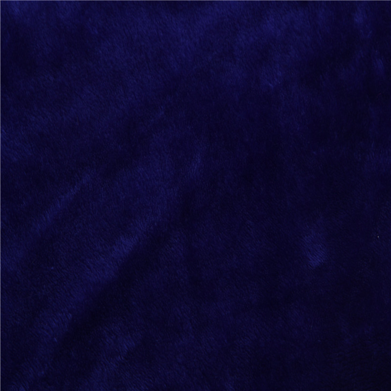 Dark blue solid color 긴 hair fabric 도매 super soft 슈 벨벳