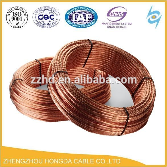 Soft Drawn Bare Copper Stranded Conductor Bare Copper Ground Earth ...