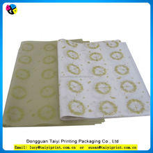 2016 wholesale custom printed wrapping tissue 75% cotton paper