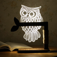 Creative 3 D Night Light Dimmable Atmosphere Lamp Stereo Vision Light LED Table Lamp