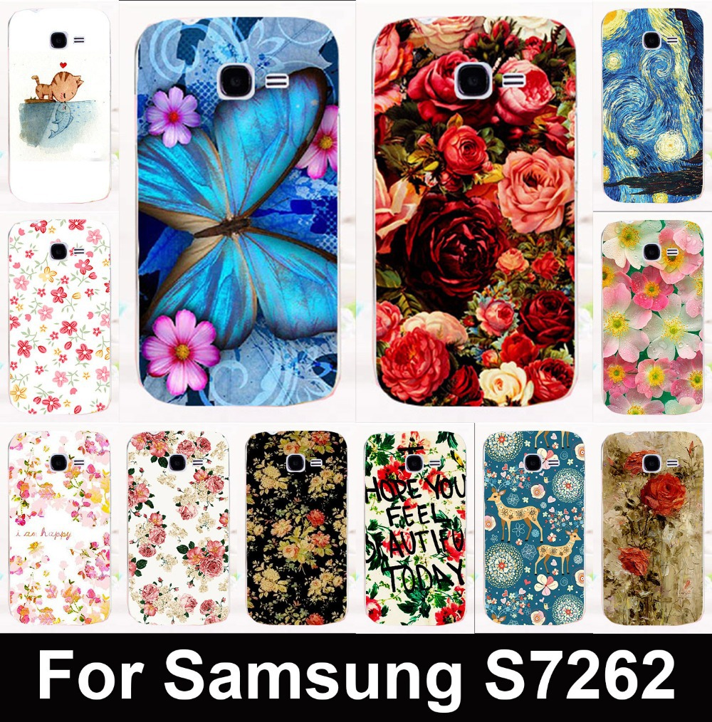 factory price ed6a7 147f9 Hot sale Butterfly&Flower mobile phone case protective case hard Back cover  for Samsung Galaxy Star Pro S7260 S7262 s7278 i679