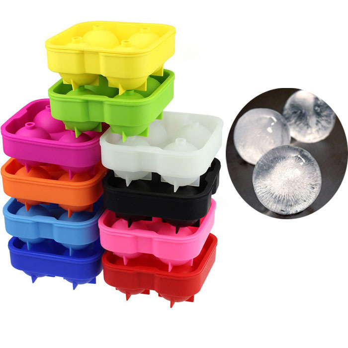 Hot Craative Silicone Whiskey Ice Cube Trays Maker Spherical Molds For Ice Cream Ball Mould Frozen Ice cream tools12*12*5cm