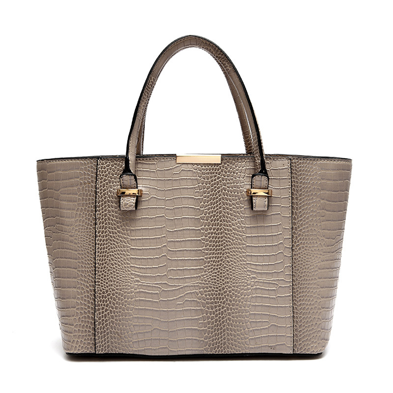 sac a main femme de marque celebre 2015 crocodile embossed big tote bag channelled bolsos. Black Bedroom Furniture Sets. Home Design Ideas