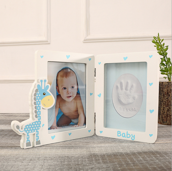 New Lovely Handpritn Footprint Photo Frame 1 Year Old Baby Boy Birthday Gifts