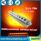 9x18w RGBWA UV night club ceiling battery power led wall wash light