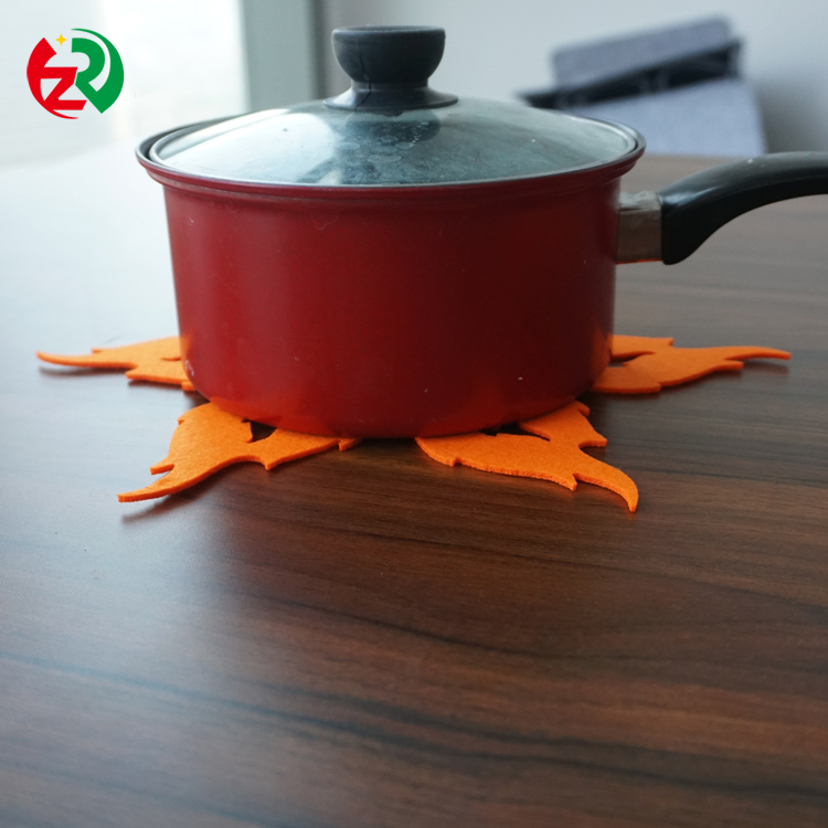 Felt pan protector/Heat resistant fire shape nonwoven felt pot and pan protector