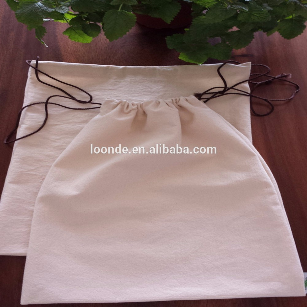 Organic cotton canvas reusable food bags for supermarket