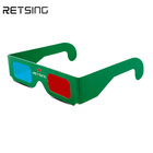 2019 Eco-friendly custom printing red cyan anaglyph 3d glasses oem paper 3d glasses