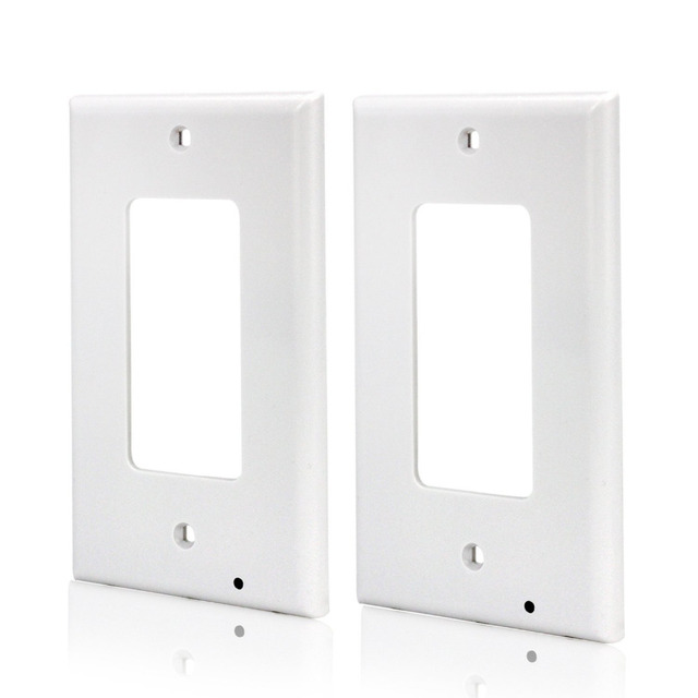 2pack decor led guide light outlet covers outlet wall plate with led night lights