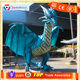 Infrared Control Life Size Blue African Wyvern Dragon Animatronic