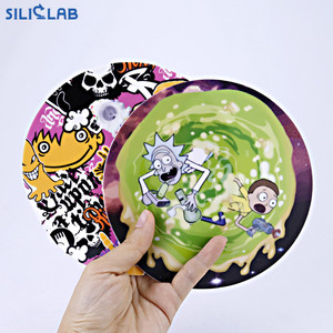 Full printing logo silicone wax pad non-stick rubber mat dab mat