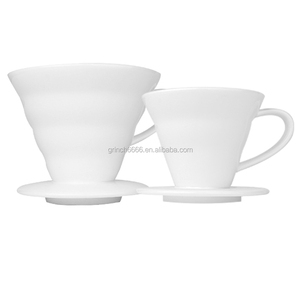 Espresso V60 Dripper Coffee Percolators Espresso Coffee Server Coffee Porcelain Filter