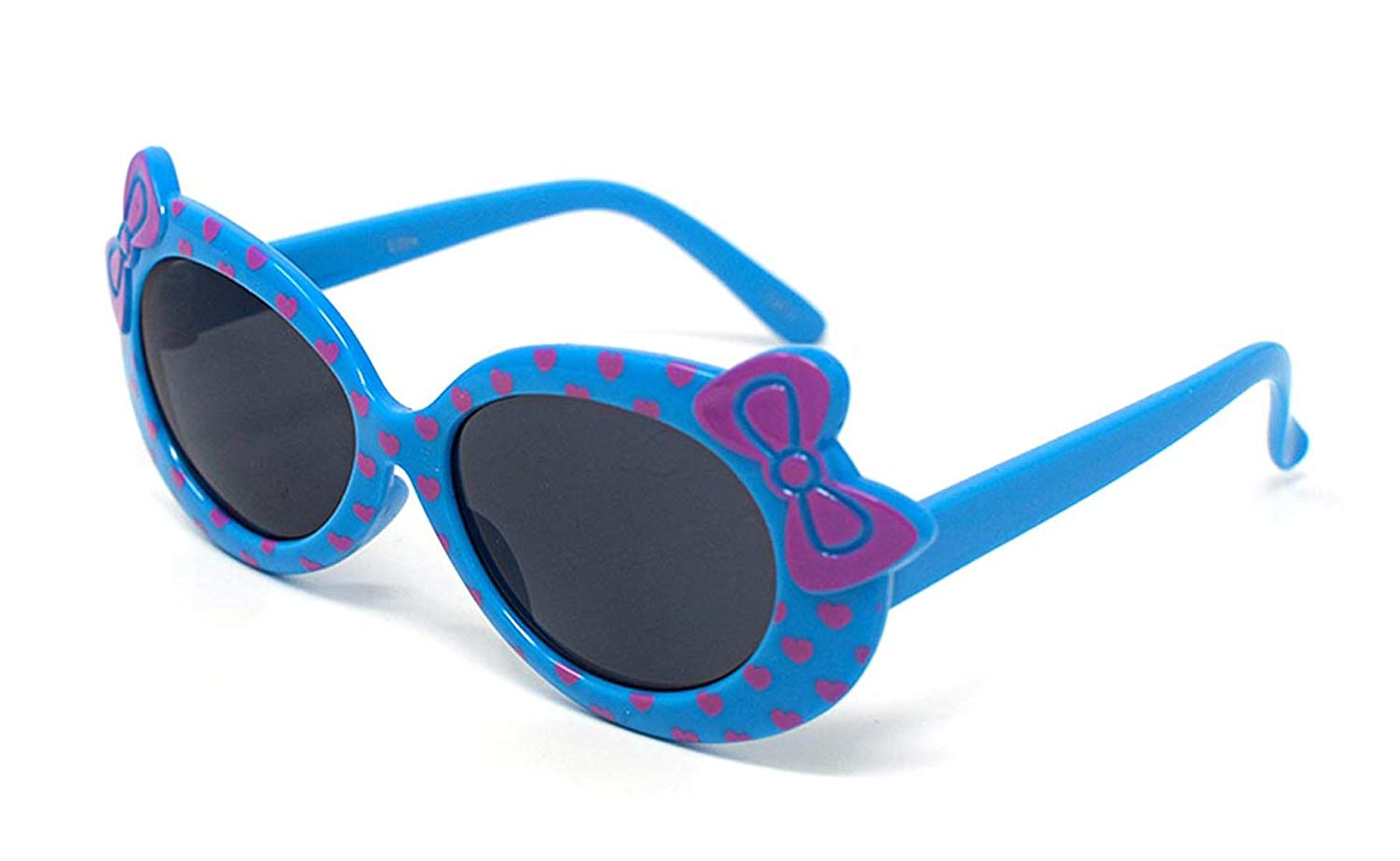 11a3e0695d Get Quotations · 3 x Blue Coloured Childrens Kids Girls Stylish Cute  Designer Style Sunglasses with a Bow and