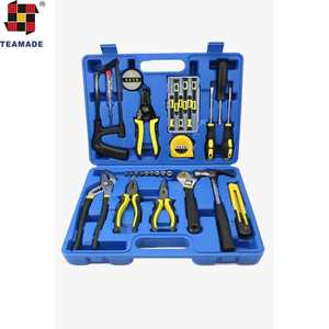 2018 hot sell 30 pcs household hardware hand tool in PE box hand tool set tool kit