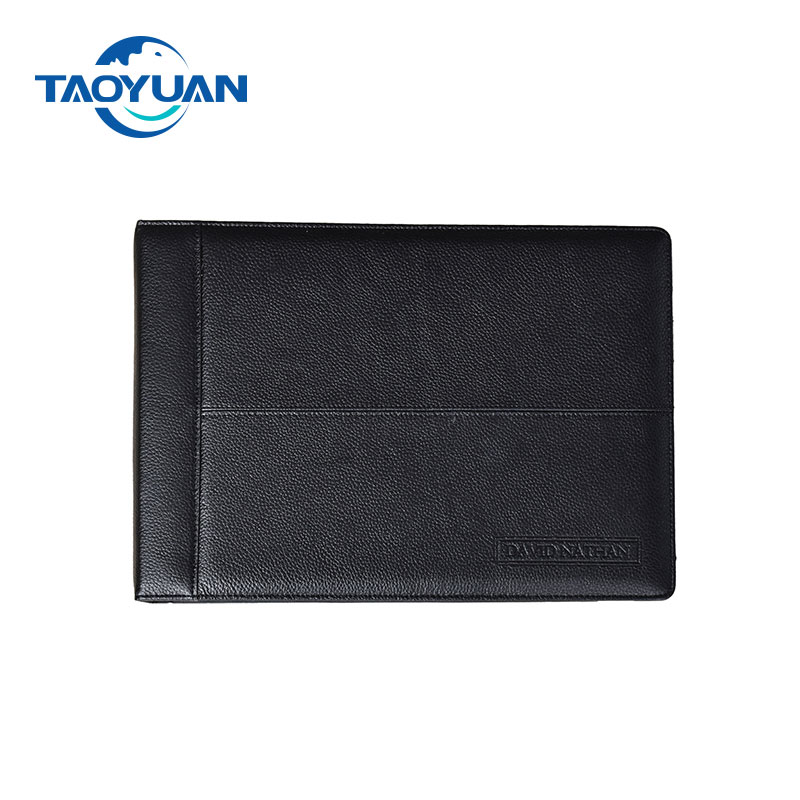 Stock supply Real Leather 7 ring binder 500 Check Capacity, For 9x13 Inch Sheets,Sleek Business Design, Premium Quality
