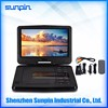 10.1 inch portable DVD player 5 hour rechargeable battery, swivel screen