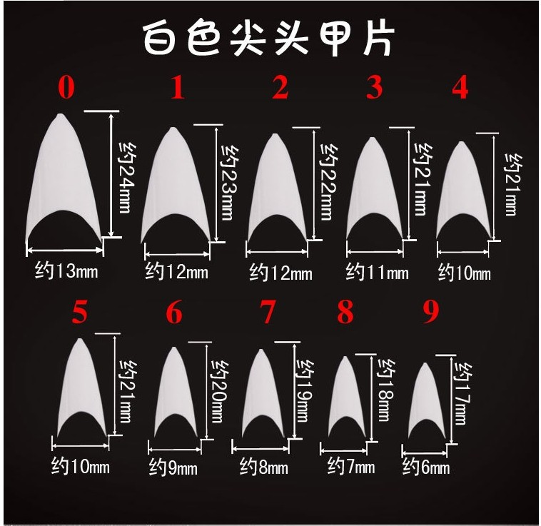 New Arrivals Salon Diy Natural Acrylic Nail Tips,Full Cover False ...
