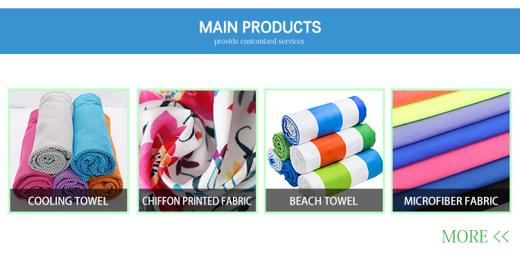 China Manufacturers Promotional microfibre chamois printed beach travel towel