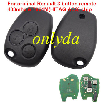 For original 3 button remote key with 433mhz & 7961M(HITAG AES) chip no blade