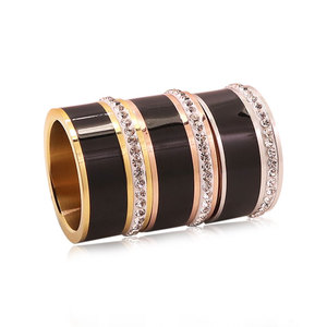 Fashion unisex ceramic diamond ring 3 colors available