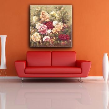 çin Fabrika Renkli çiçek Kolay Yağlıboya Tuval Boyama Resimleri