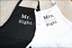 Mr. Right and Mrs. Always Right apron set