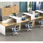 Wholesale Simple Office Modular Cubicle Workstation Furniture with mdf Wooden 1/2/3/4/6 staff computer partition desk