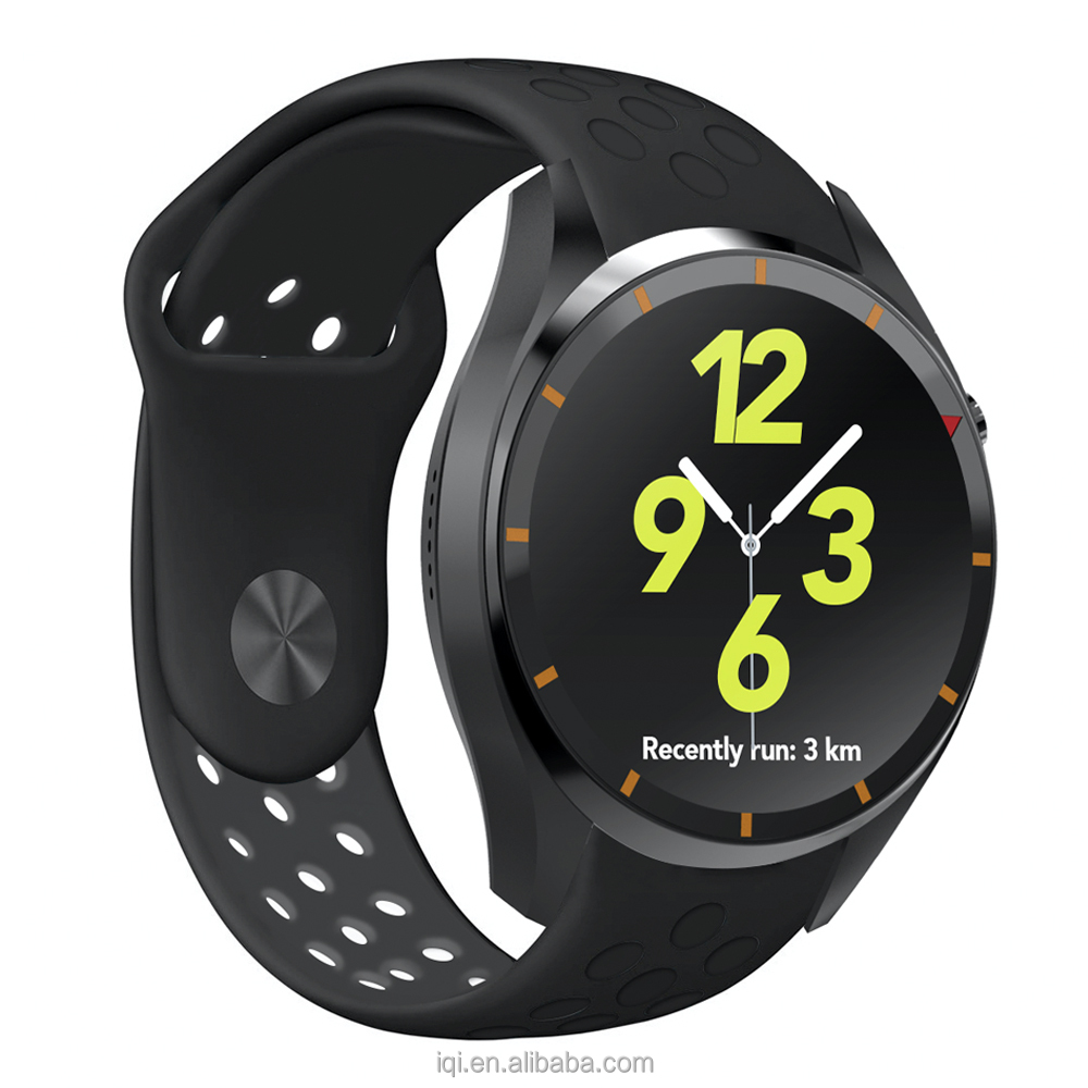 2016 HOT new full round Android smart watch i3, MTK6580, Quad-core, WIFI, 3G, GPS, Bluetooth, free to download and install apps