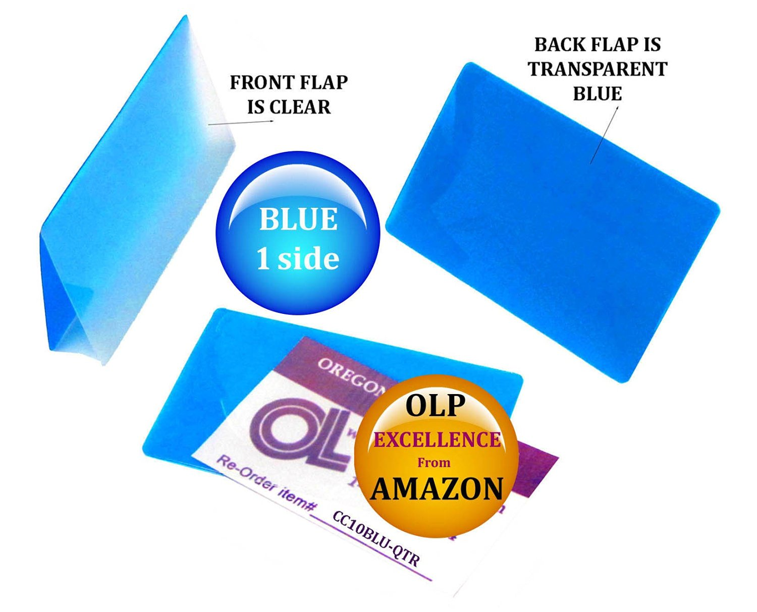 LAM-IT-ALL Hot Laminating Pouches Credit Card (pack of 25) 10 mil 2-1/8 x 3-3/8 Blue/Clear