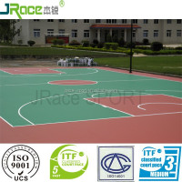 silicon PU plastic outdoor basketball court flooring