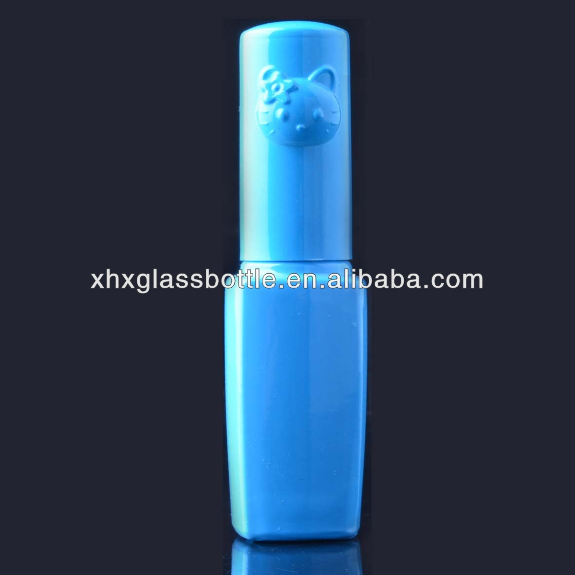 blue colorful UV gel nail polish glass bottles with kitty cap wholesale cheap price
