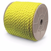 CHNLINE Yellow Color 3 strand Polypropylene Mooring Rope PP Rope