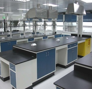 School laboratory University lab furniture working table work bench with  sink