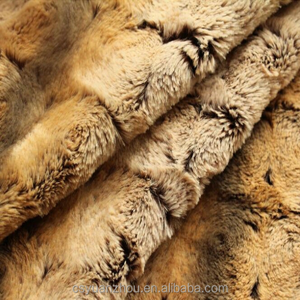 imitation faux fur plush fabric for making clothes